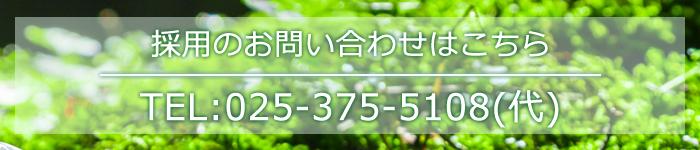 採用のお問い合わせはこちら TEL:025-375-5108(代)