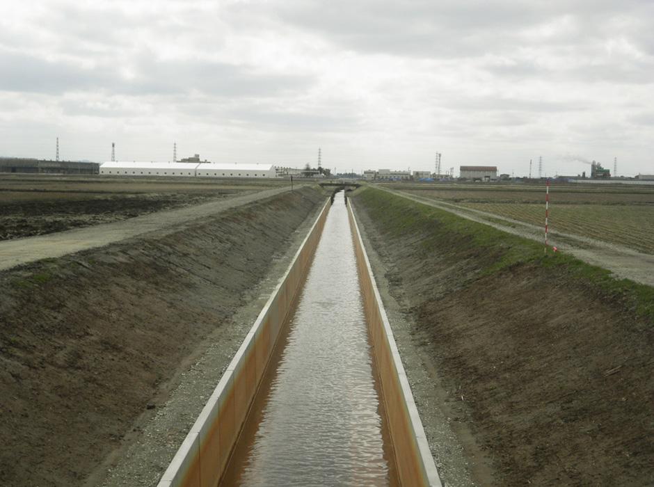 排水路工事の写真